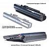 Аккумулятор Acer Aspire One A110 / A150 / D250 series,  усиленная,  11.1В, 7200мАч, синий